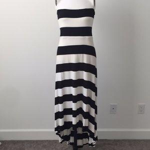 Bold stripe hi low dress